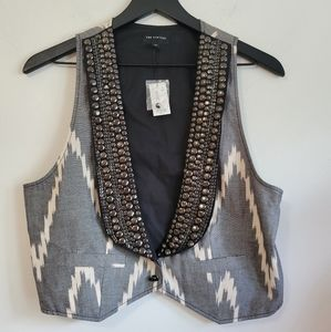 The Limited|NWT Cropped Studded Vest